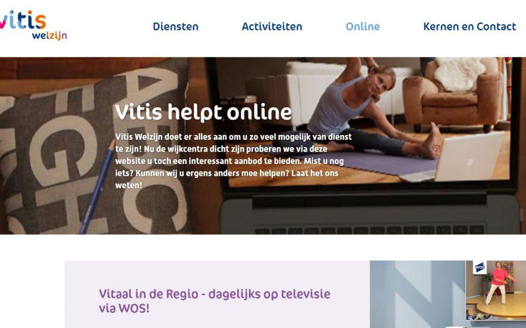 Nieuwe diensten Vitis Welzijn: Vitis Online en Vitaal in de Regio