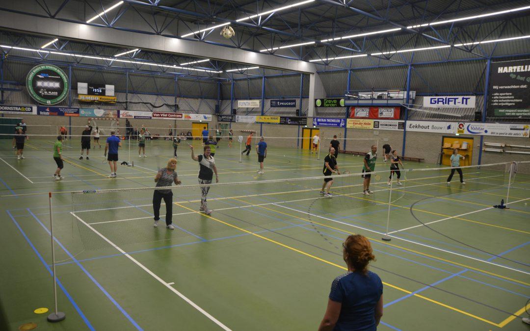gezelligheid en sportiviteit gecombineerd bij Quintus Badminton